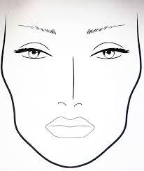 blank mac makeup face charts saubhaya