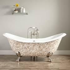 Bellbrook Cast Iron DoubleSlipper Mosaic Clawfoot Tub - Clawfoot tub bathroom