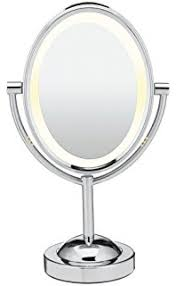 conair double sided lighted makeup mirror lighted vanity mirror 1x 7x magnification