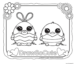 Coloring Pages Easter Draw So Cute Printable Pictures