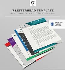 Professional Letterhead Templates Magnificent Company Letterhead Designs Free Letterhead Templates Sample