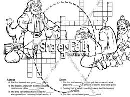 Parable Of The Talents Coloring Page Parable Of The Talents