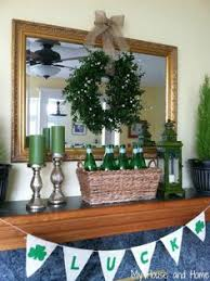 st pattys day home office decor. set of three pintsized st patricks day mason jars painted and distressed kelly green white with handpainted shamrocks on pattys home office decor d