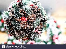 Mistletoe Ball Lights Christmas Decorative Soft Focus Background Artificial
