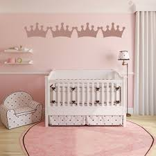 princess crown nursery wall sticker pack