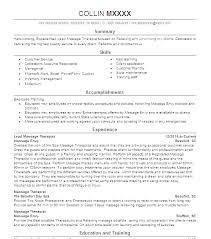 Massage Therapist Resume Examples Fascinating Massage Therapist Resume Sample Mmventuresco