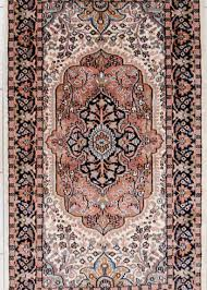 wool silk area rug with fl design