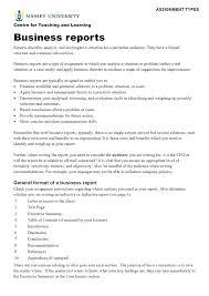 Sample Formal Report Standard Business Report Format Onourway Co