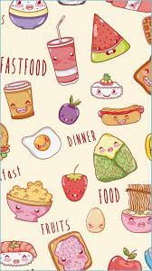 Cute Food Backgrounds - 14x14 ...