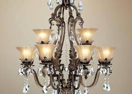 antique bronze 4 light round crystal chandelier with regard to