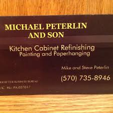 Michael Peterlin And Son Kitchen Cabinet Refinishing And Painting