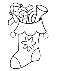 Small Picture Stocking Coloring Page Coloring Stockings Christmas Free Coloring
