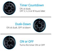 Ge Outdoor Dual Outlet Light Sensing Timer 15112 Outdoor Mechanical Countdown 8 Dusk Dawn Walmart Com