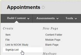 Create Sign Up Sheet Resource Center How To Create A Sign Up Sheet In Blackboard