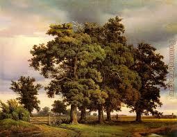 crola oak trees painting unknown artist crola oak trees art painting