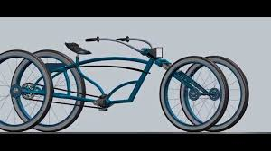 beach cruiser stretched bicycle concept layout 2 youtube