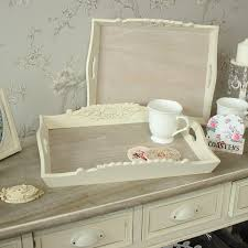 set of 2 wooden serving trays two wooden trays with detailing on the edge perfect for