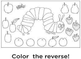 Hungry Caterpillar Free Colouring Pages The Very Hungry Caterpillar