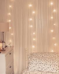 Cute Lights In Room Small Room Ideas Cute Fairy Lights Behind Net Curtains
