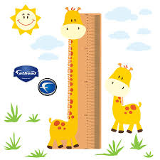 Nursery Giraffe Growth Chart X Large Removable Wall Decals