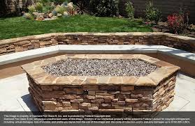 installed tuscan reserve fire pit diamond fire glass