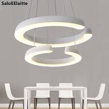 household lighting fixtures. Modern 2 Acrylic Circle Rings Led Chandelier Lustre Luminaire Lighting Pendant Fixtures Household D