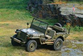 Photograph A Willys MB jeep  now restored  was used in World War II