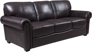 Shae Branson Dark Brown Leather Sofa from Luxe Leather Coleman