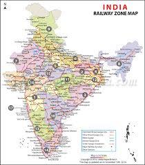 Indian Railway Route Chart India Railway Zonal Map Indian Railway Zones