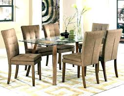 aid rectangular glass dining table set