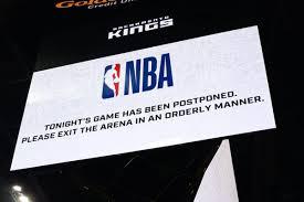 NBA Season is suspended indefinitely ...