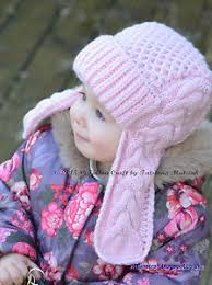 Earflap Hat Knitting Pattern Delectable Knitting Pattern Winterberry Earflap Hat Toddler To Child Sizes
