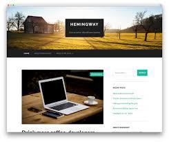 50 best responsive wordpress themes 2017 colorlib hemingway personal blog theme
