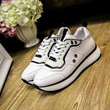 Dhgate Shoe Size Chart 2018 Top Quality Women Fashion Sneakers Casual Sports Genuine Leather Shoes Luxury Brand Designer Running Flats Shoes Size 34 40