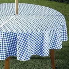 umbrella tablecloth with zipper outdoor zippered patio hole round vinyl
