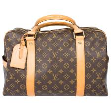 louis vuitton overnight bag. louis vuitton carry all weekend bag - brown canvas/beige leather 1 overnight l