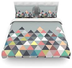 mareike boehmer nordic combination abstract cotton duvet cover gray twin scandinavian