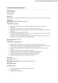 Customer Service Resume Objective Resume Objective Examples For