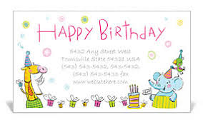 Happy Birthday Business Card Birthday Business Card Template Design Id 0000000751
