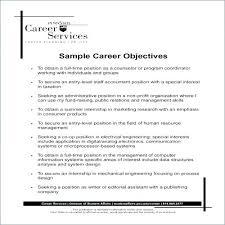 General Objective For Resume Samples Resume Sample Web