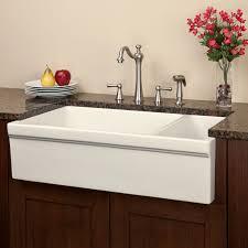 Bathroom Apron Sink 36 Gallo Reversible 80 20 Offset Double Bowl Fireclay Farmhouse