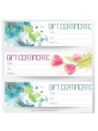 gift certificate template certificate design