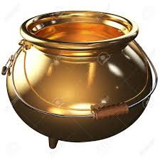 Cauldron Of Gold Empty 3d Rendered With Clipping Path Stock Photo, Picture  And Royalty Free Image. Image 37115464.
