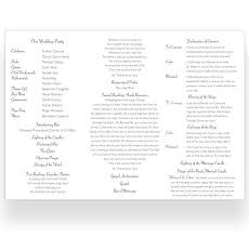 sample wedding ceremony program tri fold wedding ceremony booklet sample loving invitations