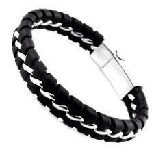 Modern Surfer Style <b>Black Leather</b> Men's <b>Bracelet</b> | men's <b>bracelet</b> in ...