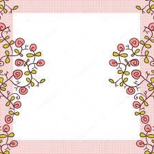 Flower Frame Cute Background Design Stock Vector