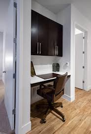 home office nook. Download Home Office Nook In New Modern Apartment Stock Photo - Image Of Beautiful, Cabinet