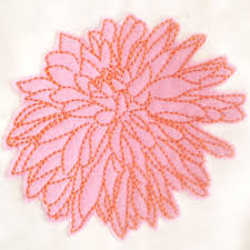 Lovely Modern Abstract Flower Machine Embroidery Design - Home machine embroidery designs