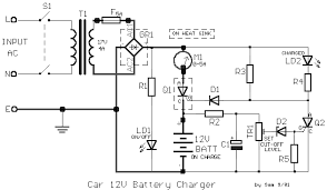 schematic wiring diagram car battery charger 12volt circuit diagram car battery charger 12volt circuit diagram