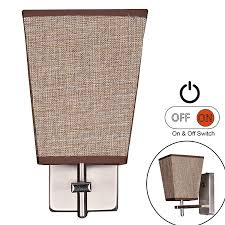 Rv Wall Light Fixtures Facon Led Rv Fabric Light Fixture With Flared Wall Sconce Shade Wall Mount Led Decor Lamp Bedside Reading Light With Switch 12v Dc Interior Light
